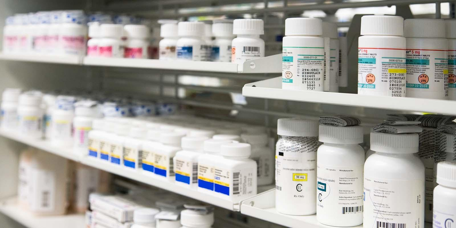 A photo of prescription drugs.